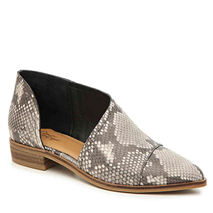 Crown Vintage Shay Bootie in Charcoal Snake Print photo