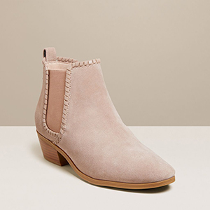 Jack Rogers Poppy Suede Bootie in Taupe photo