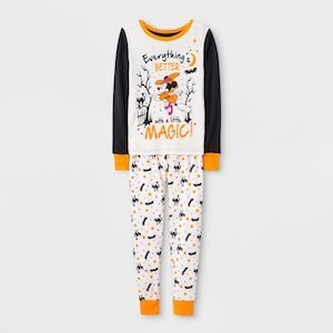 Mickey Mouse & Friends Girls' Minnie Mouse Halloween Two-Piece Pajama Set photo