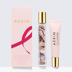 AERIN Rose Lip Conditioner & Amber Musk Rollerball Set photo