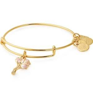 Alex and Ani Pink Tulips Charm Bangle photo