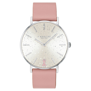Coach Perry Pink Ribbon Leather Strap Watch photo