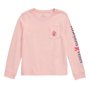 Vineyard Vines Breast Cancer Awareness Whale Pocket Tee photo