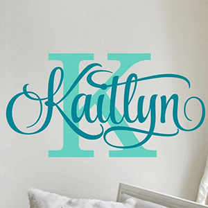 Personalized Name Wall Decal photo