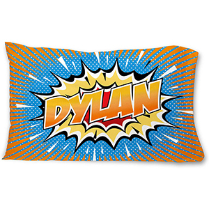 Personalized Comic Book Style Name Pillow photo