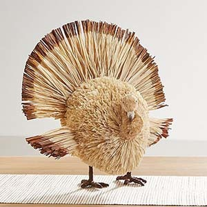 Small turkey made out of buri and banana leaves photo