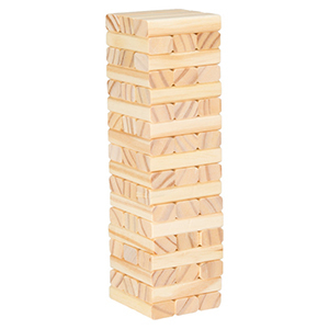 Stacks of wooden blocks in a tower shape from Houzz photo
