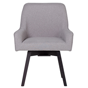 Gray office chair on black legs from Houzz photo