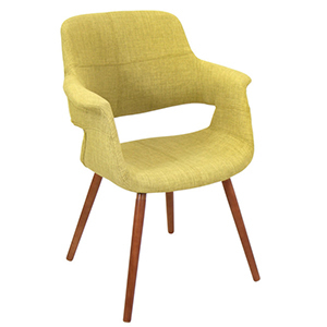 Pistachio green midcentury modern chair with wooden legs from Houzz photo