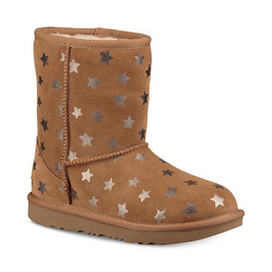 UGG Little and Big Girls Classic Short Stars Boots photo