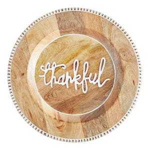 Pier 1 Thankful Script Charger Plate photo