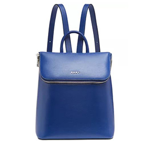 Blue luxe leather backpack from Macy's photo