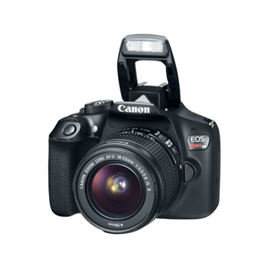 Black Canon EOS Rebel T6 camera with flash from Walmart photo