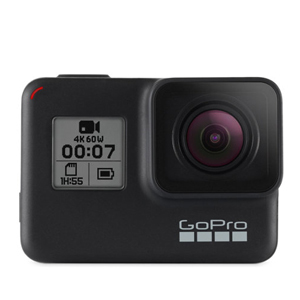Black GoPro HERO 7 with video and camera features from Amazon photo