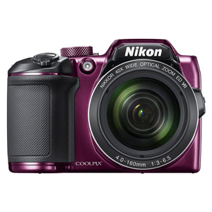 Nikon COOLPIX digital camera in plum color from Best Buy photo