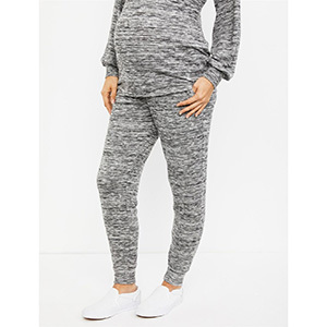 A Pea in the Pod Under Belly Hacci Knit Maternity Jogger photo