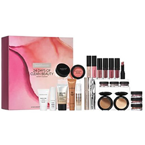 Pink box of bareMinerals advent calendar with assorted makeup products from bareMinerals photo