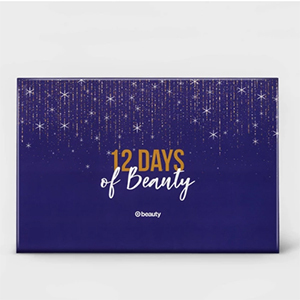 Purple, gold, and silver box of Target beauty advent calendar from Target photo