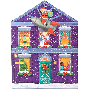 Purple illustrated house on The Body Shop advent calendar from Ulta photo