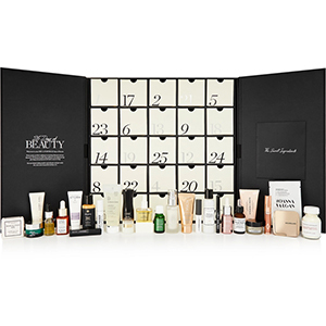 Black and white Net-A-Porter advent calendar with assorted products from NET-A-PORTER photo