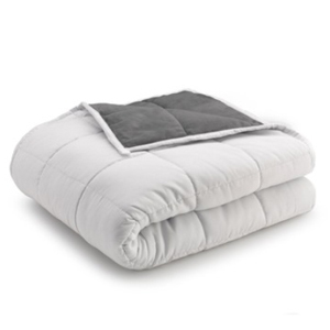 White and gray weighted blanket from Nordstrom Rack photo