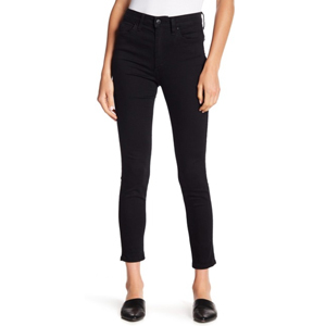 Black high-waist skinny jeans from Nordstrom Rack photo