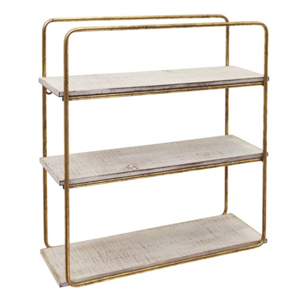 Wood and metal three-tier wall shelf from Nordstrom Rack photo
