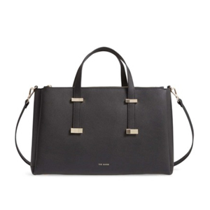 Black leather laptop bag from Nordstrom Rack photo