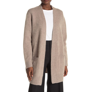 Tan cashmere cardigan from Nordstrom Rack photo