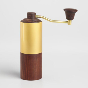 Walnut wood manual coffee grinder from World Market photo