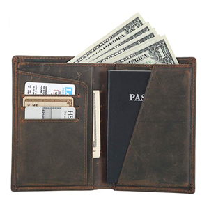 Men's two-fold passport wallet from Amazon photo