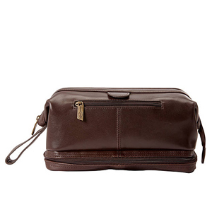 Brown leather toiletry bag for men from eBags photo