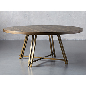 Round table with bronze legs from Arhaus photo