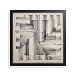 Black and white framed tapestry from Arhaus photo