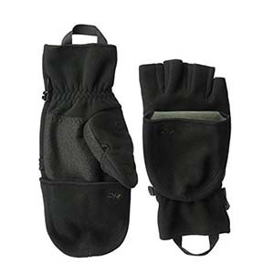 Black convertible mittens by Outdoor Research photo