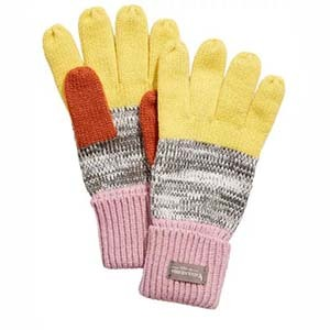 Yellow, orange, and pink color-block gloves from Macy's photo
