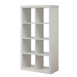 White cube organizer with eight storage squares from Walmart photo