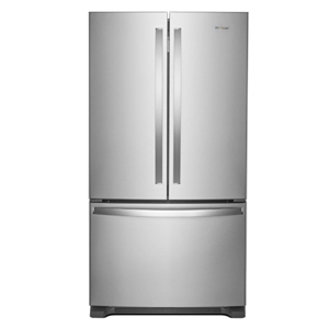 Stainless steel French door refrigerator by Whirlpool from The Home Depot photo