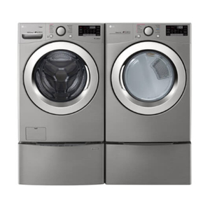 Graphite steel LG Electronics washer and dryer from The Home Depot photo