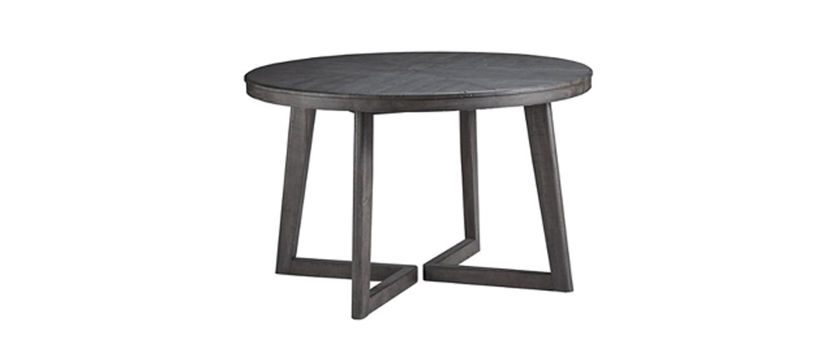 Dark gray round dining room table from Ashley Furniture Homestore photo
