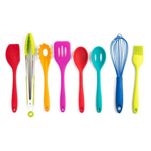 Eight-piece silicone cooking utensil set from The Home Depot photo