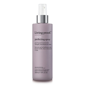 Living Proof restore perfecting spray in purple bottle from Ulta photo
