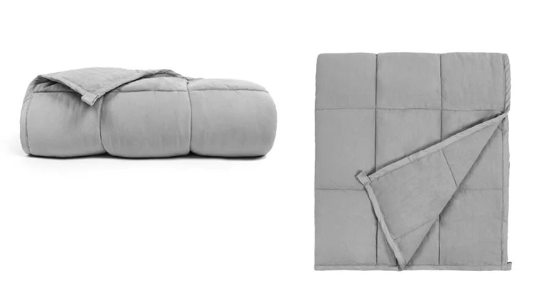 Gray anti-anxiety weighted blanket from Joss & Main photo
