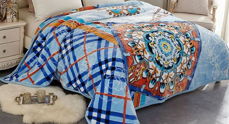 Blue and orange weighted blanket from Walmart photo