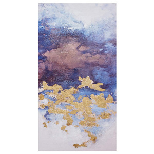 Rivet Abstract Purple Clouds with Gold Leaf Accents on Canvas Wall Art from Amazon photo