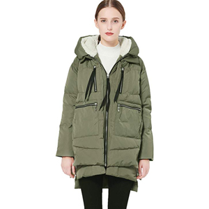 Forest green thickened down coat from Amazon photo