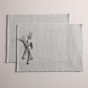 A set of two striped placemats from West Elm photo