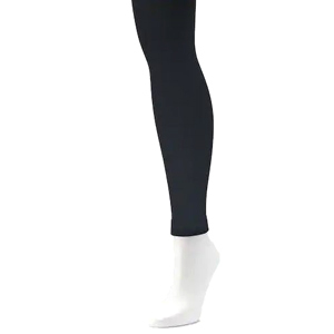 Black footless fleece lined tights from Kohls photo