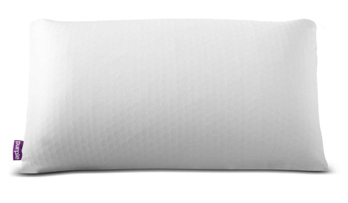 White Purple Harmony Pillow photo