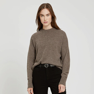 Light brown crewneck sweater from Frank and Oak photo